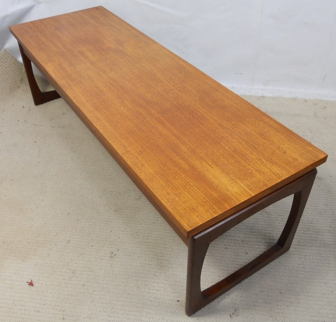Long Low Coffee Table: 1960 S Long Low Teak Coffee Table